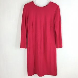 Ann Taylor Dress Long Sleeve Zipper Back Pink